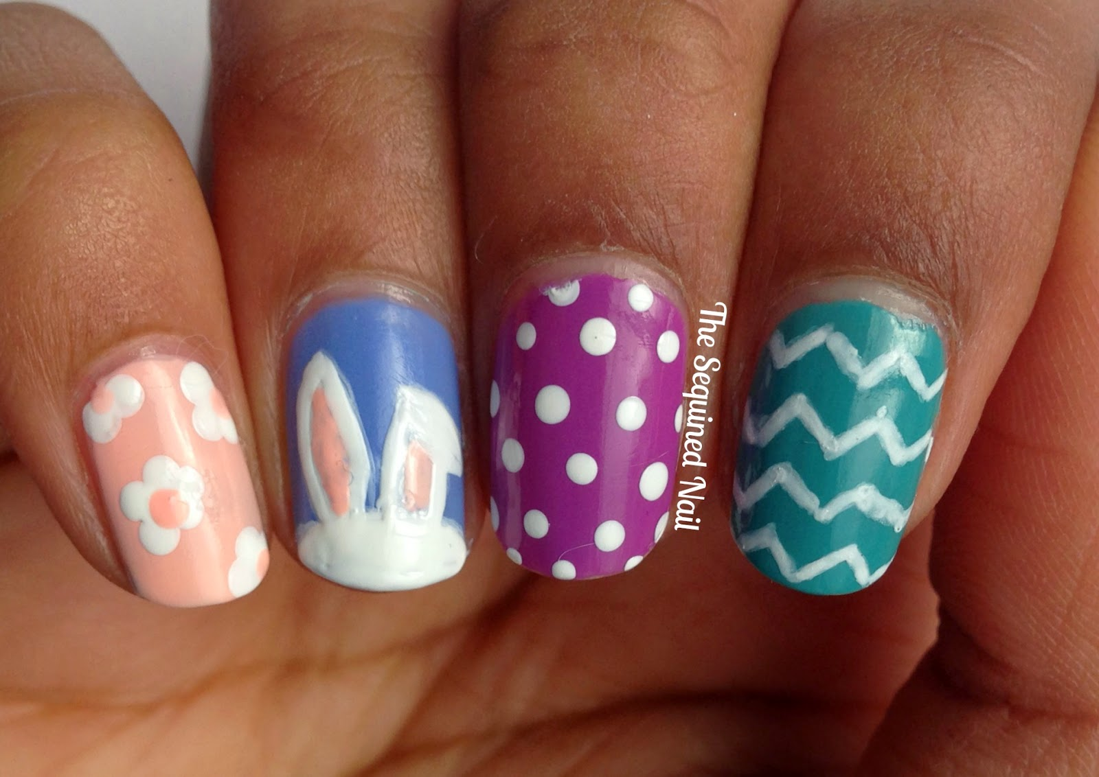 The Sequined Nail: Easter Bunny Nails