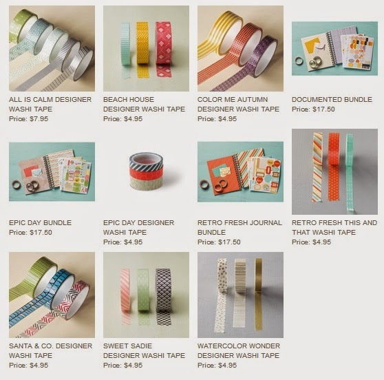 Stampn'UP!'s Washi Tape collection fall 2014
