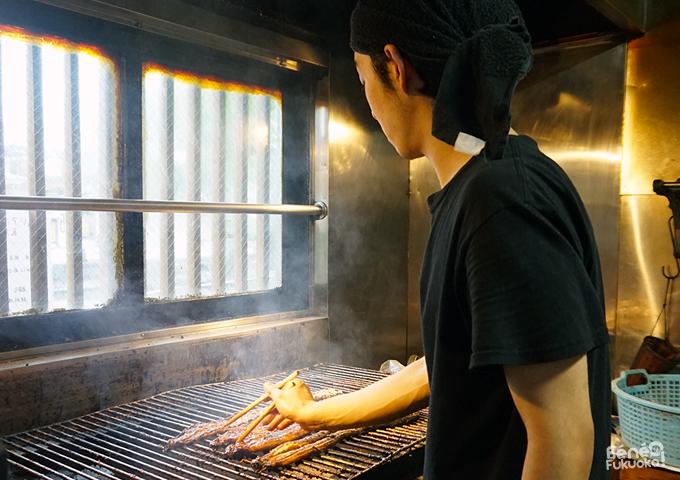 Anguilles grillées à Yanagawa