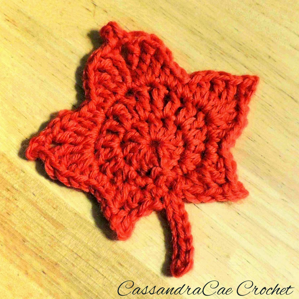 Free Crochet Pattern Link Crochet a Maple Leaf