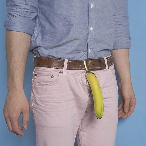matthew nicholson fotografia divertida comida pornográfica banana calça