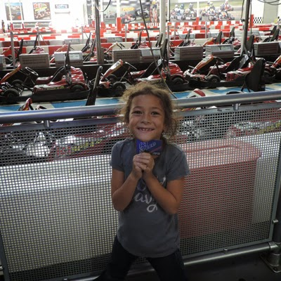 Six-Year-Old Sofia is proud to show off her K1 Speed's Driver's License.