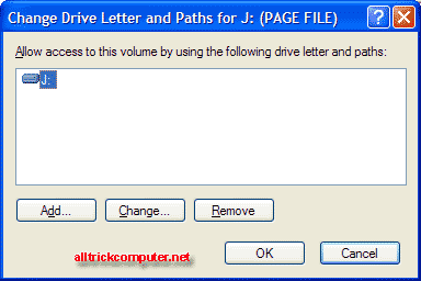 Change letter drive and paths