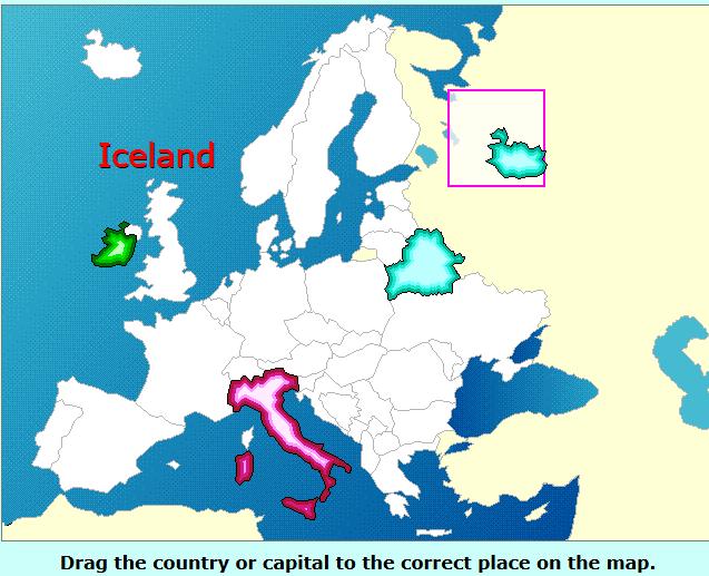 Παζλ με τις χώρες της Ευρώπης