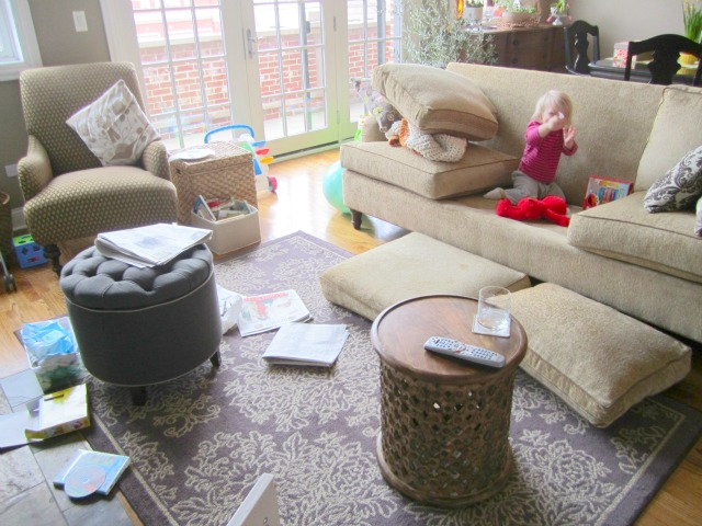 Messy living room with kids images for Kids living room