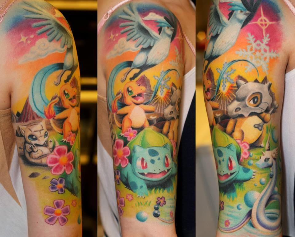 Manga de Tatuagem Pokemon