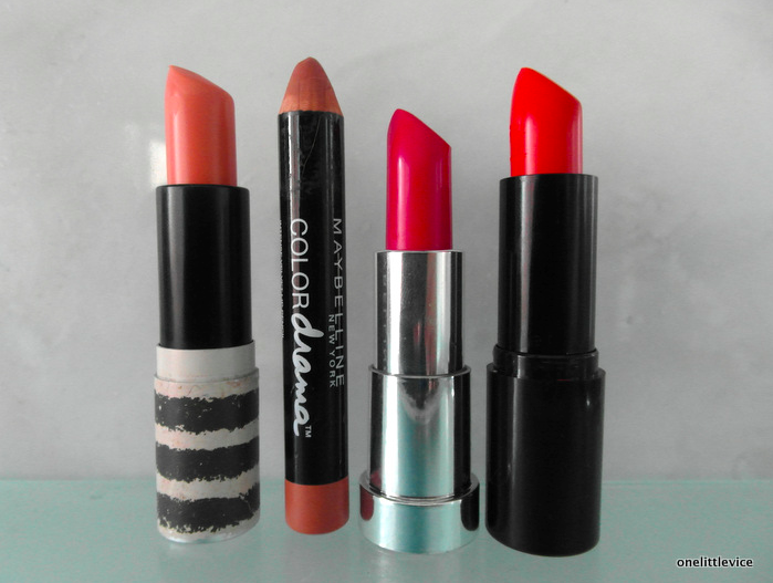 one little vice beauty blog: spring beauty lipstick picks