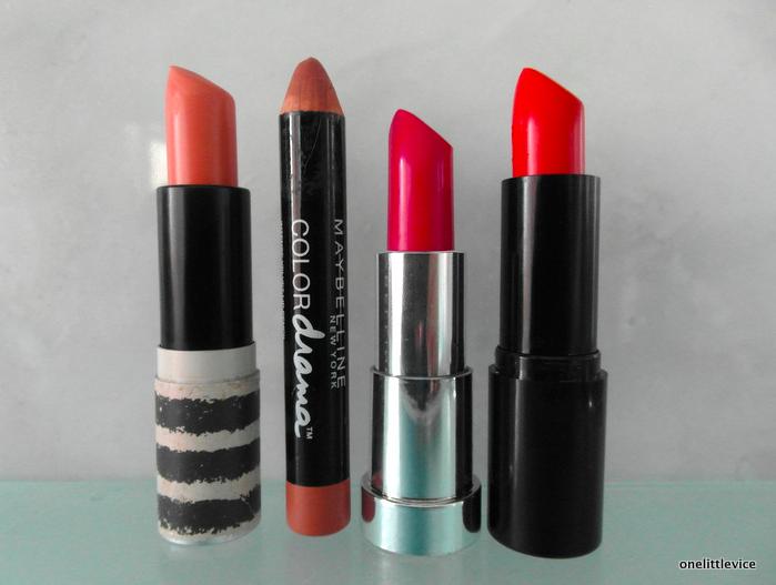 one little vice beauty blog: spring beauty lipstick picks