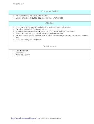 mainframe computer operator resume