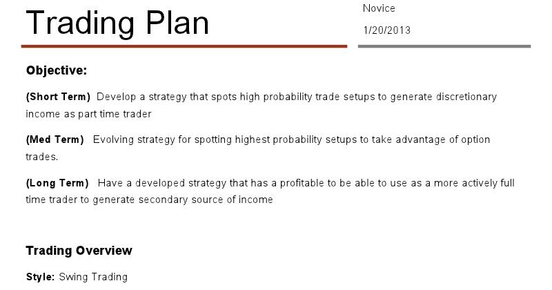 Good forex trading plan