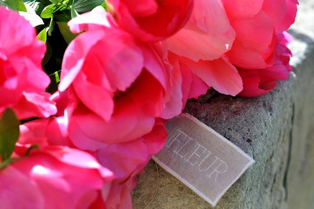etiquettes de fleurs