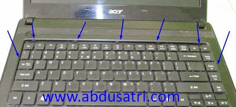 langkah langkah ganti keyboard laptop acer