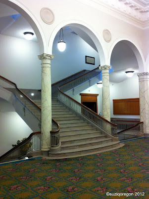 Multnomah County Library Central Branch Stairs to Third Floor