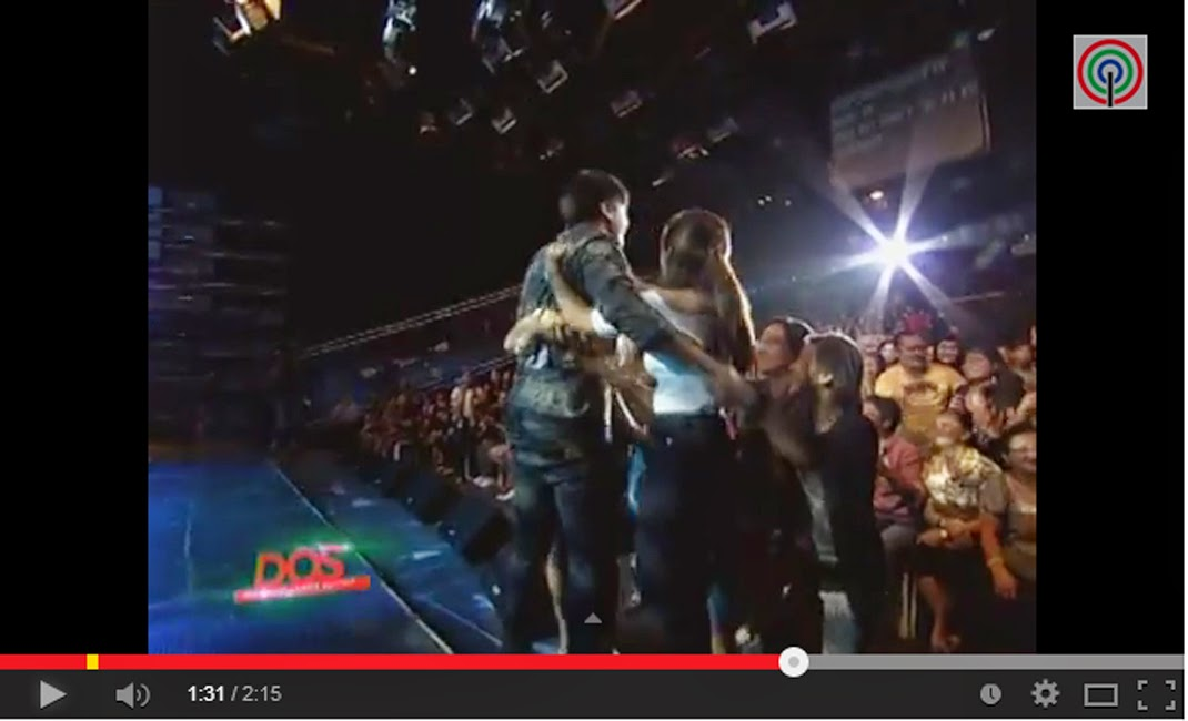 "Daniel Padilla kissed and hugged by fans when singing ""Kamusta Ka"" on ASAP 19"