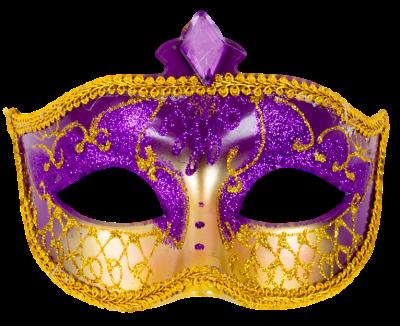 Máscara Carnaval PNG - Asiática gold purpura