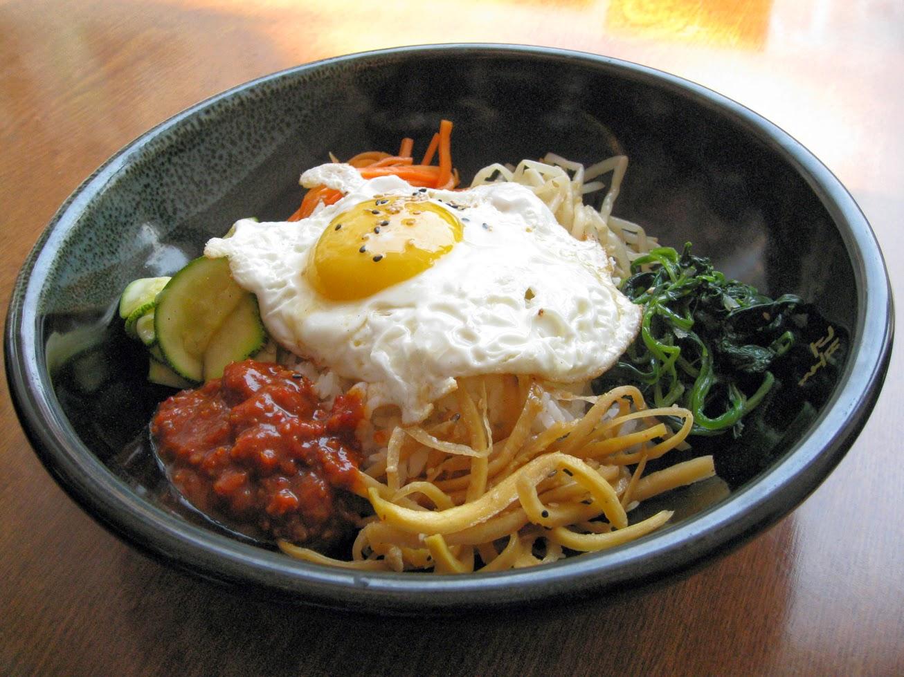 ... 나물과 같이 즐기는 비빔밥 Spring vegetables Bibimbap recipe