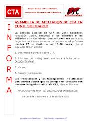 ASAMBLEA DE AFILIAD@S DE CTA EN CONIL SOLIDARIO