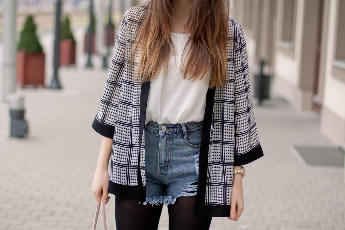 jeansowe szorty oasap
