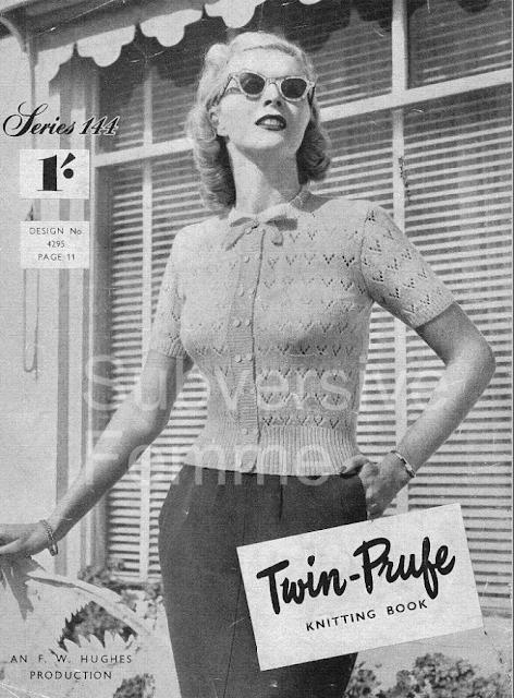 50s knitting model
