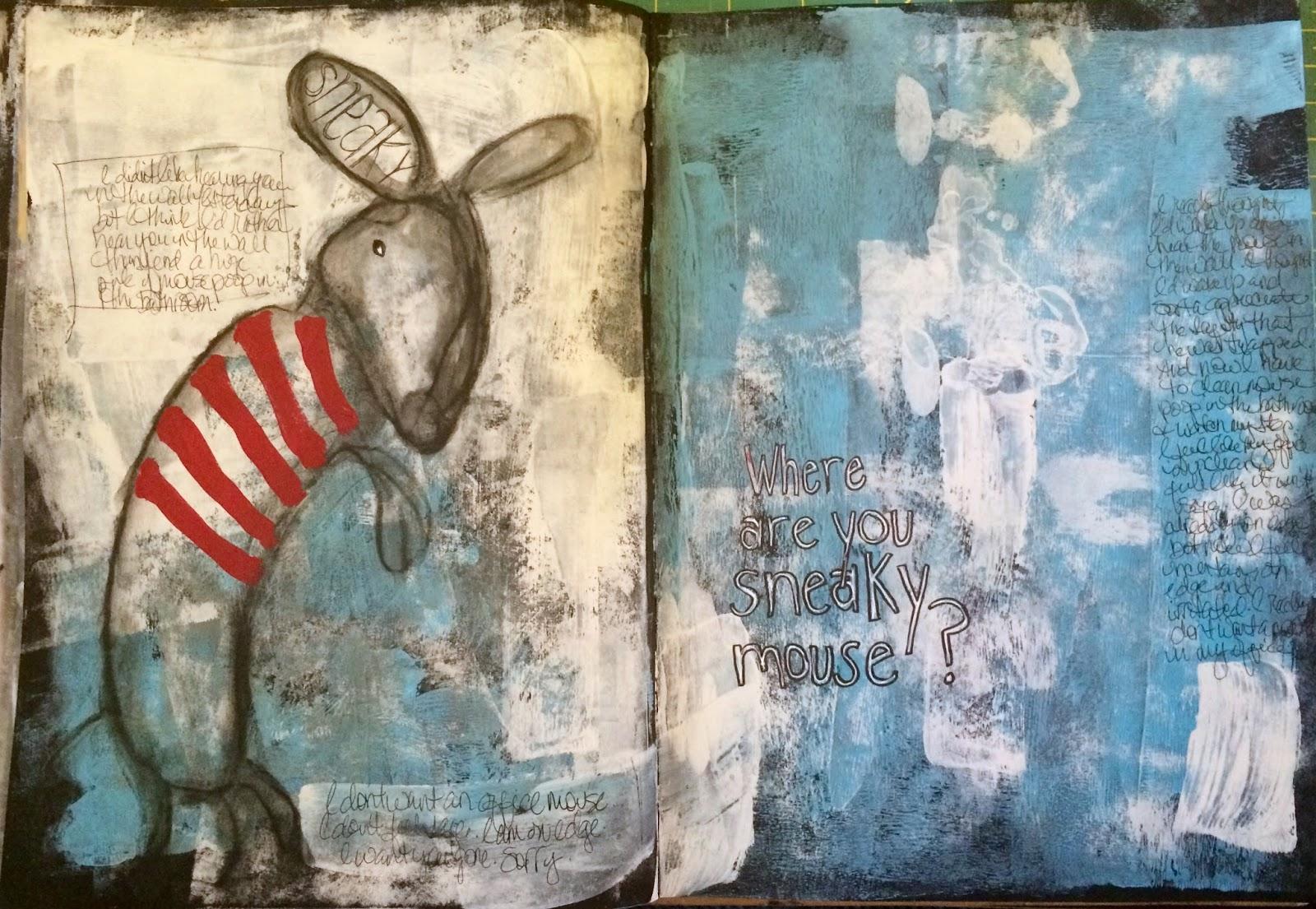 cathy walters  art journaling