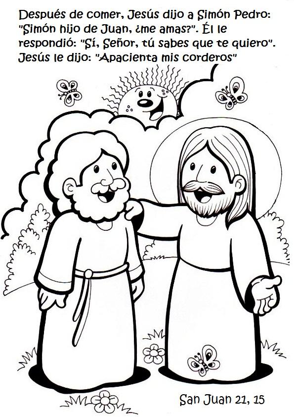 SGBlogosfera. Amigos de Jesús: VIA LUCIS: APRENDEMOS Y COLOREAMOS
