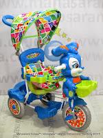 Sepeda Roda Tiga Royal RY9882CJ Baby Roy dengan Pengaman Interaktif, Canopy dan Jok Kain