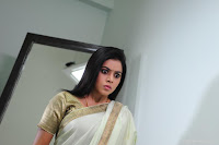 Poorna Hot Saree Stills in Avunu Movie