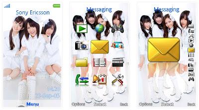 日本女團AKB48 SonyEricsson手機主題for Aino﹝240x432﹞