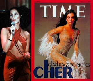 Cher in Bob Mackie outfits in the 1970's