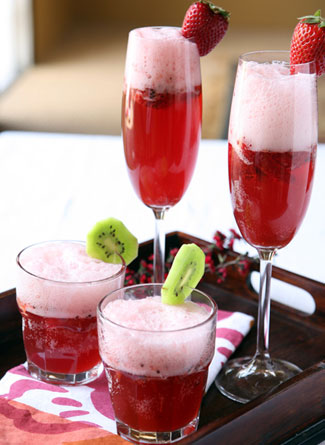 Strawberry Champagne Punch by Simply Creative Insanity