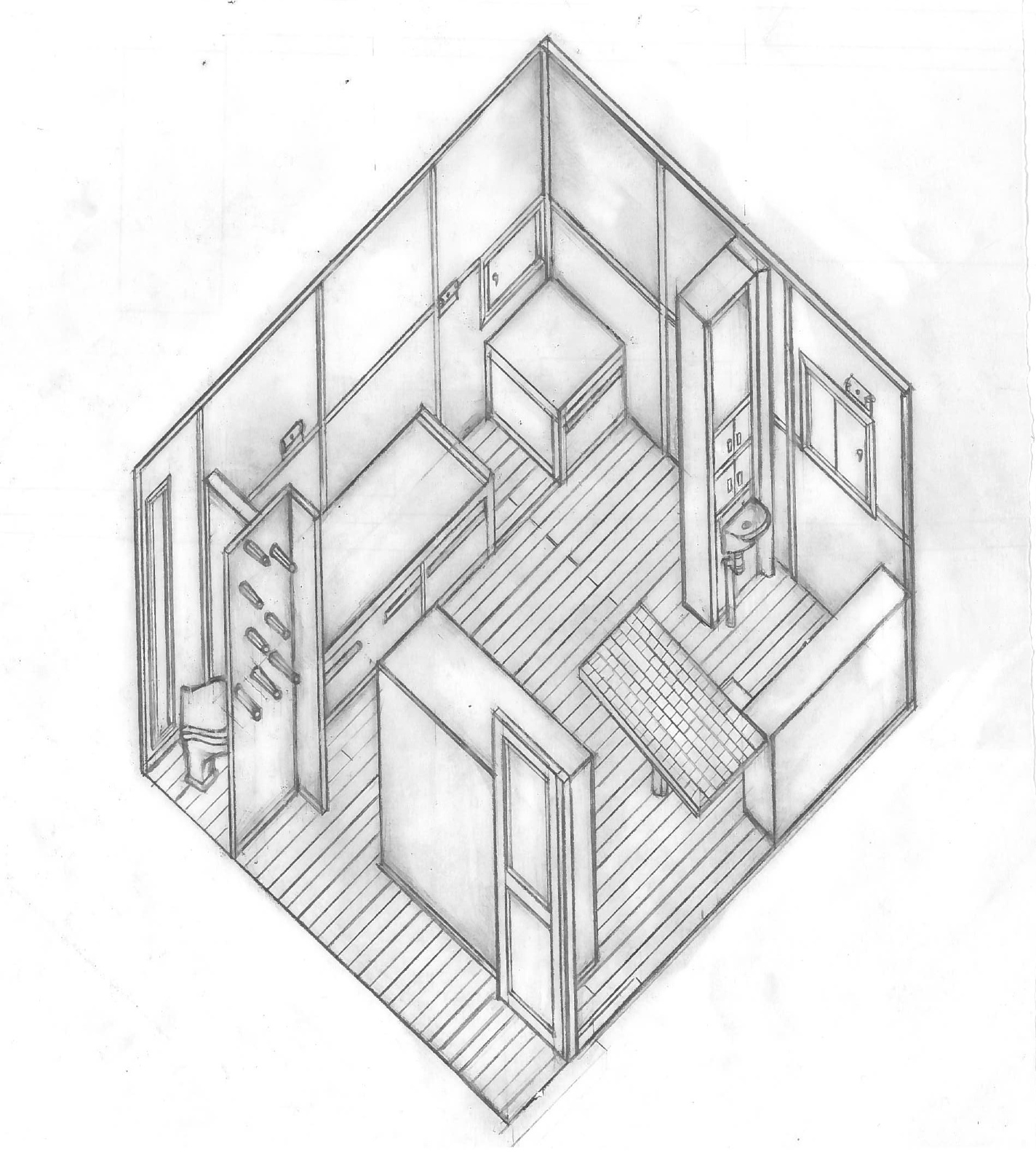 Petit Cabanon: DRAWING SET - Cabanon Le Corbusier