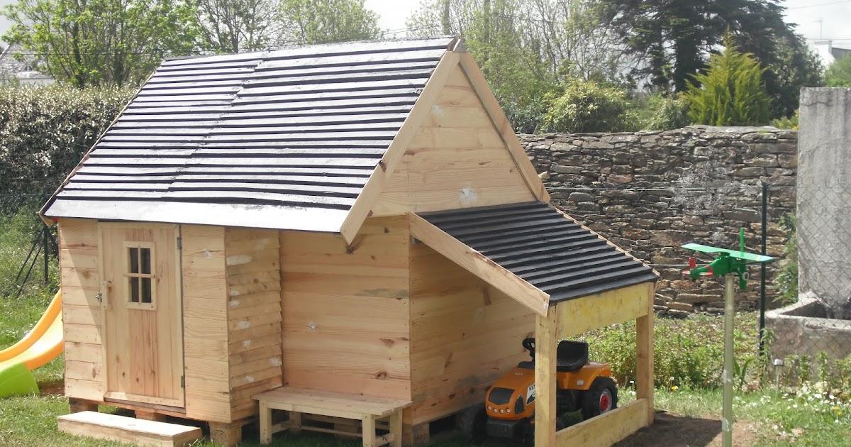 Mes fabrications construction d 39 une cabane en bois pour for Cabane au fond du jardin laurent gerra