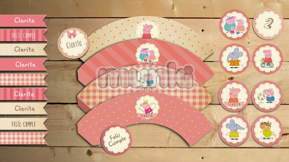 Tppers y wrappers para cupcakes