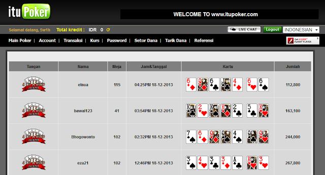 suasana di kamar poker online itupoker