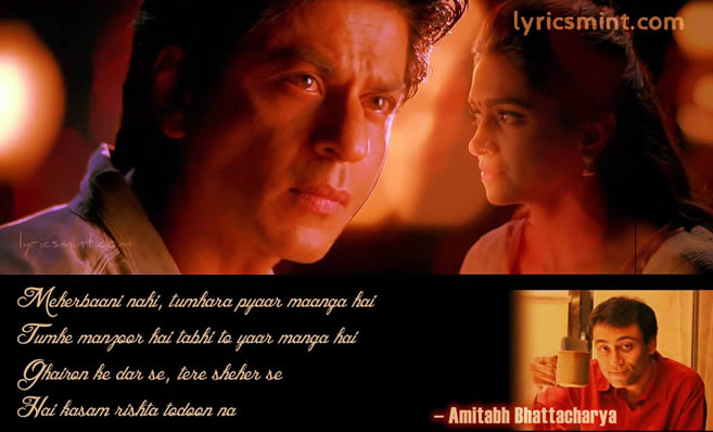 Tera Rasta (Chennai Express) Lyrics Quote