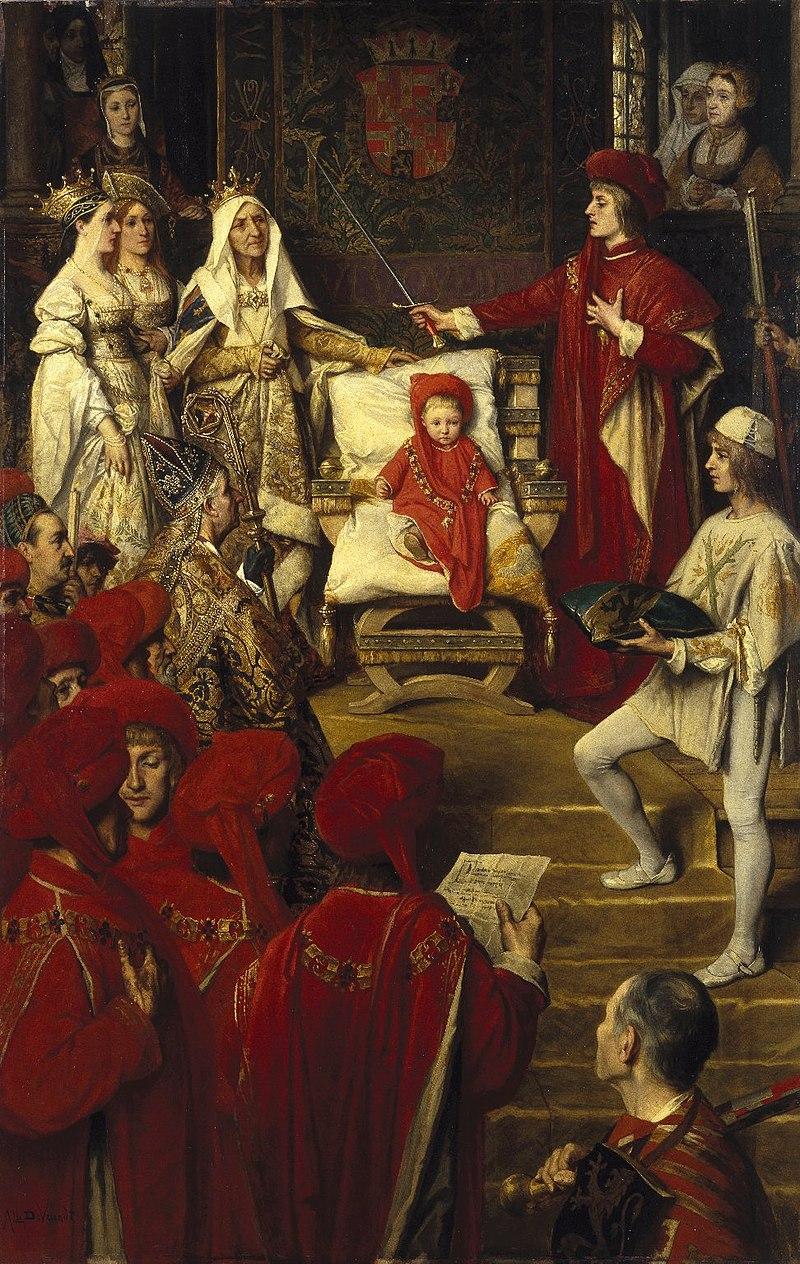 Felipe I el Hermoso, confiere el Toisón a su hijo Carlos