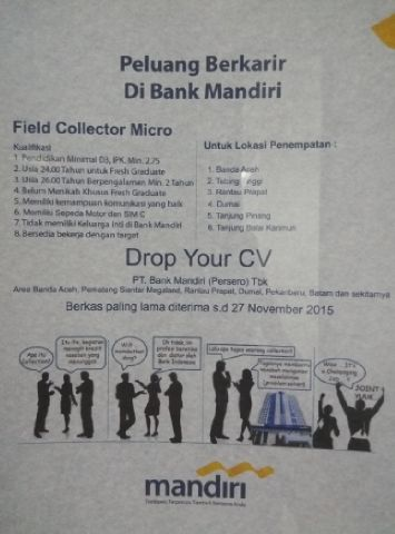 Karir Bank Mandiri