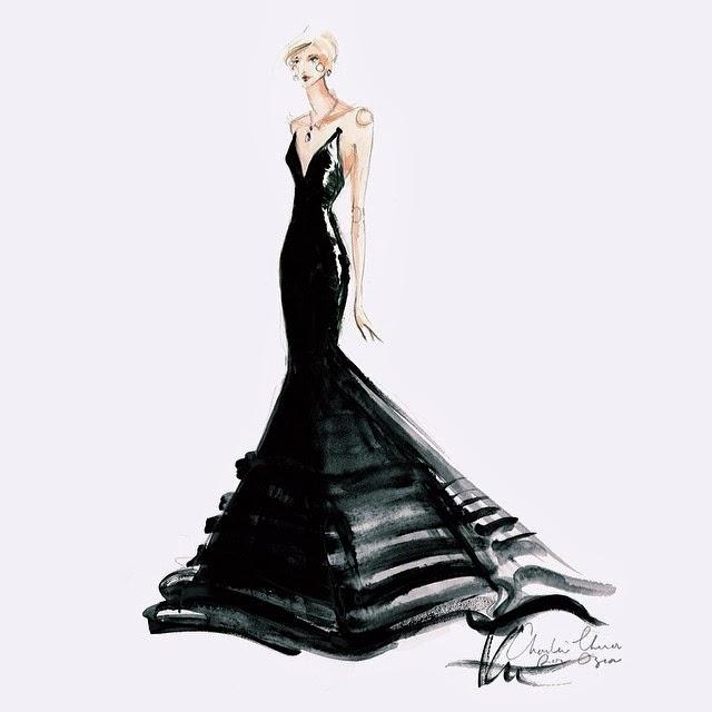 2014 Fashion Sketches Dresses