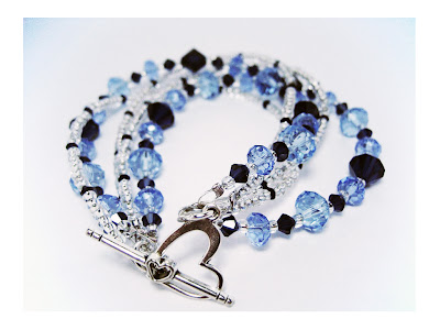 Glass & Crystal bracelet by Miss Monkei