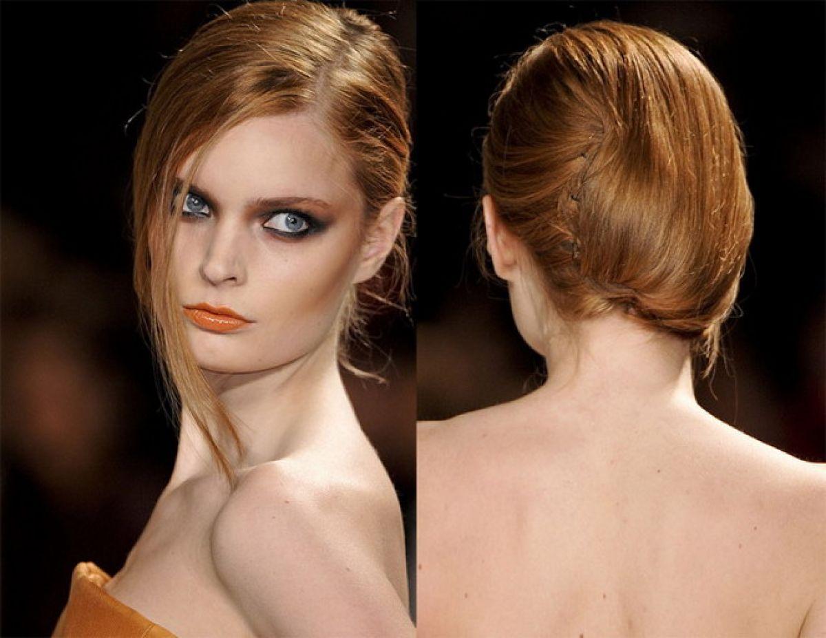 Evde orta boy saçlar için moda saç stilleri