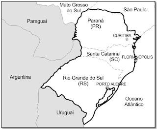 Mapa região Sul www.professorjunioronline.com