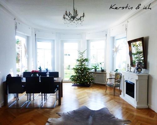 Altbau Villa Esszimmer Erker Interior