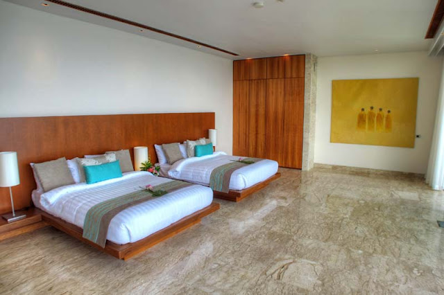 Two modern beds in the Villa Liberty, Phuket