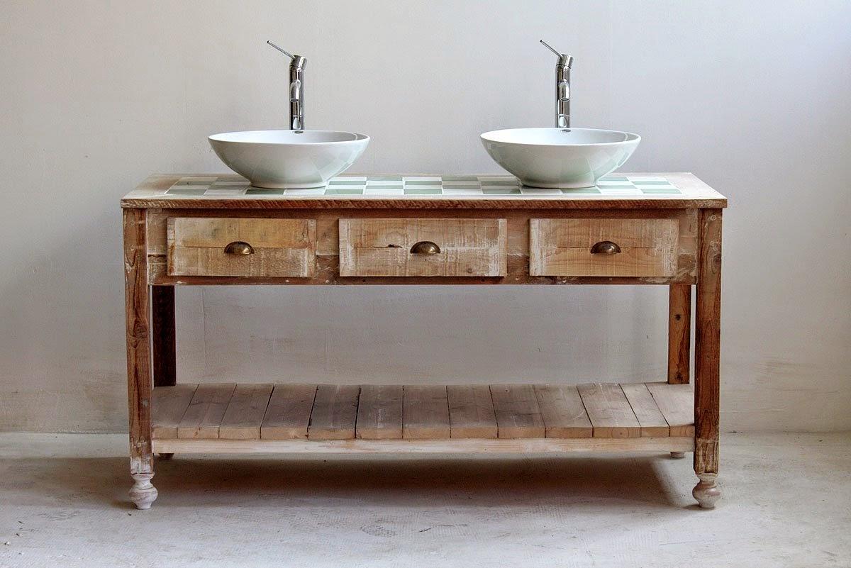 Baños Rusticos Reciclados:decoraconmaría: PORTAL DE RECICLAJE: DE CÓMODA A MUEBLE DE BAÑO