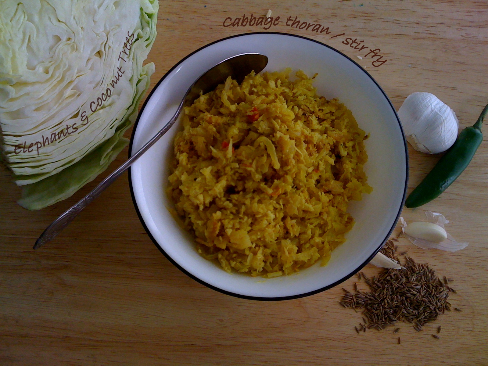 Cabbage Thoran (Kerala Style Stir-Fried Cabbage) Recipe — Dishmaps