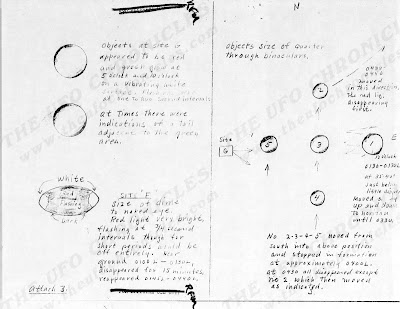 UFO Report at  Missile Sites, F E Warren AFB Wyoming (Sketch 3) August 1965