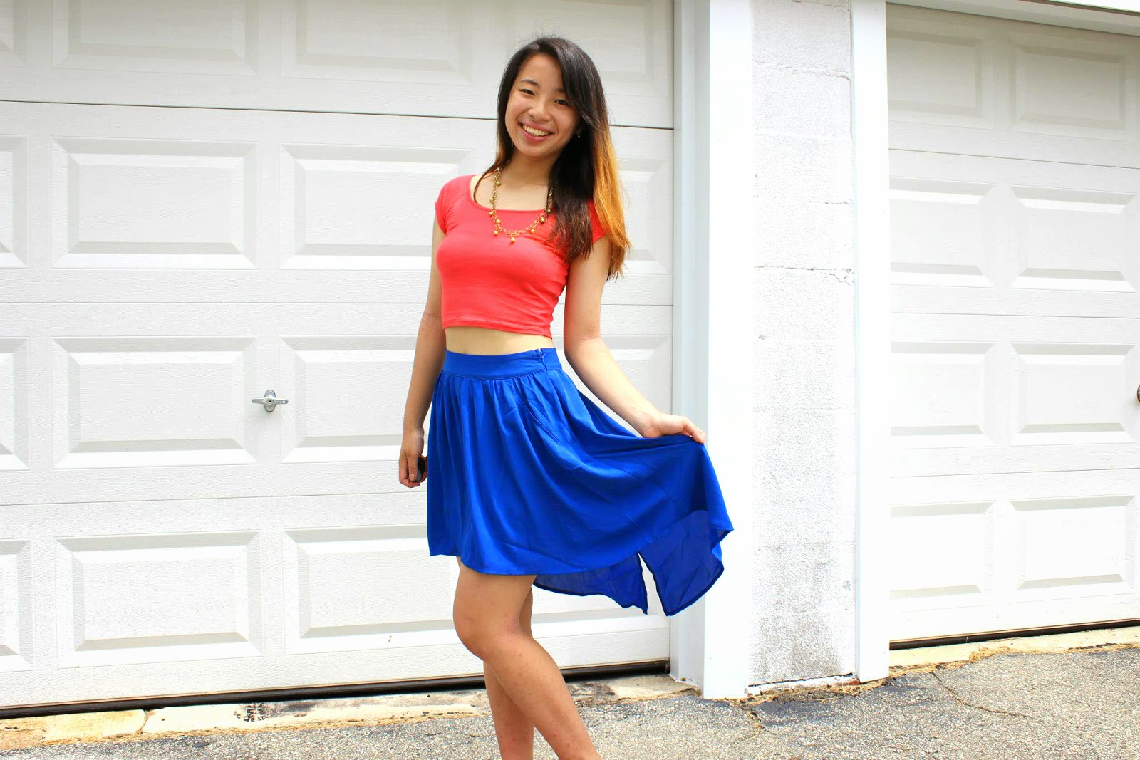 Fun and colorful spring outfit