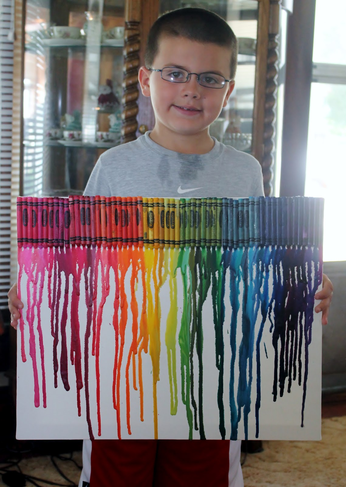 mama shona: 4h project -- crayon canvas art!