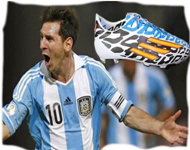 Lionel Messi Entrenara Nuevas Zapatillas En Copa Mundial