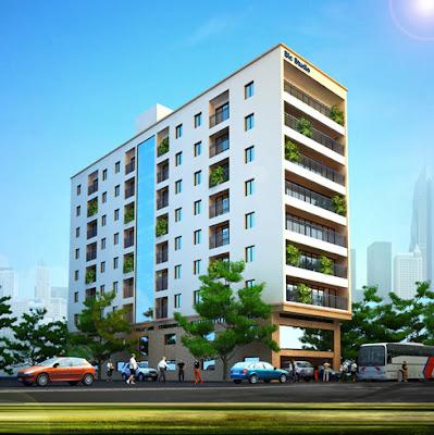 Phối cảnh tòa nhà chung cư mini Thịnh Quang